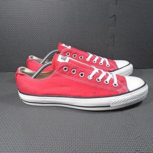 Mens Sz 10 Converse Red Low Tops